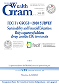 FECIF / GSCGI—2020 SURVEY Sustainability and Financial Education: Only a quarter of advisers always consider ESG investments, par Paul Stanfield, FECIF - United Trading Services SA, Membre du GSCGI